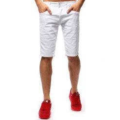 Spodenki i szorty męskie: Spodenki męskie jeansowe białe (sx0680)