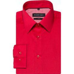 Koszula SIMONE KDTS000357. Czerwone koszule męskie na spinki Giacomo Conti, m, z bawełny, z klasycznym kołnierzykiem, z długim rękawem. Za 199,00 zł.