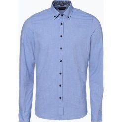 Nils Sundström - Koszula męska, niebieski. Niebieskie koszule męskie na spinki Nils Sundström, l, z materiału. Za 169,95 zł.