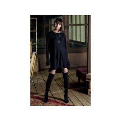 Sukienka BLAKE z falbankami. Czarne długie sukienki JO-LI, na imprezę, l, z wiskozy, z falbankami, z długim rękawem, proste. Za 430,00 zł.