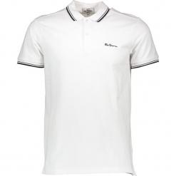 Koszulka polo w kolorze białym. Białe koszulki polo marki Ben Sherman, m, z haftami, z bawełny. W wyprzedaży za 108,95 zł.