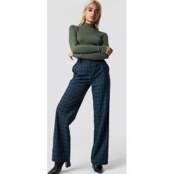 Spodnie z wysokim stanem: NA-KD Classic Spodnie garniturowe w kratkę - Blue