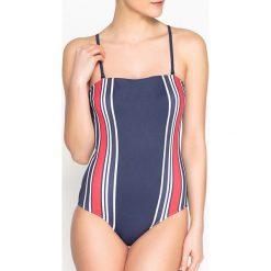 Stroje jednoczęściowe: Jednoczęściowy kostium kąpielowy z gorsetem, modelujący tiul