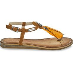 Chodaki damskie: Skórzane sandały-japonki Gaelle