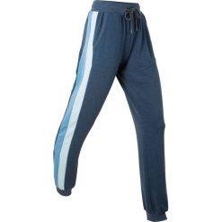 Lekkie spodnie dresowe, długie bonprix ciemnoniebieski melanż. Szare spodnie dresowe damskie marki New Balance, xs, z dresówki. Za 89,99 zł.