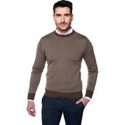 Swetry klasyczne męskie: sweter galvani półgolf brąz