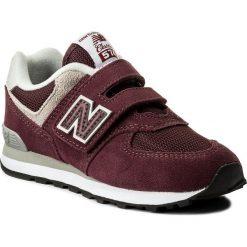 Sneakersy NEW BALANCE - YV574GB Bordowy. Czerwone trampki chłopięce marki New Balance, z materiału, na rzepy. W wyprzedaży za 179,00 zł.