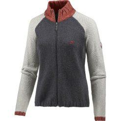 Golfy damskie: Sweter rozpinany w kolorze szarym