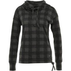 Bluzki sportowe damskie: super.natural FUNNEL HOODIE PRINTED Koszulka sportowa charcoal/charcoal