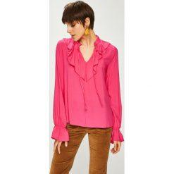 Trendyol - Bluzka. Różowe bluzki asymetryczne Trendyol, m, z tkaniny, casualowe, ze stójką. W wyprzedaży za 49,90 zł.