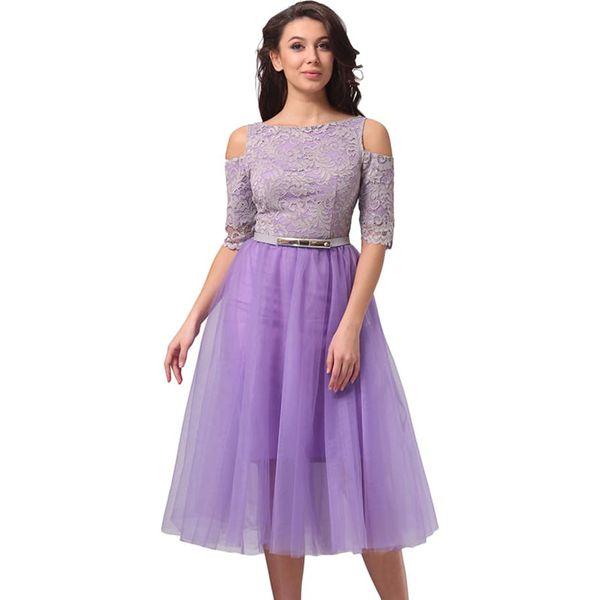 5ef2ef9f18 Sukienka w kolorze fioletowym - Fioletowe sukienki damskie Lila Kass ...