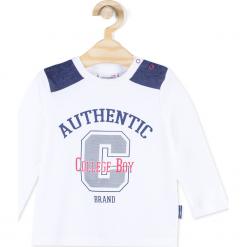 Koszulka. Białe t-shirty chłopięce z długim rękawem REBELS, z aplikacjami, z bawełny. Za 29,90 zł.