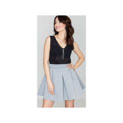 Spódnica K228 Szary. Szare minispódniczki Lenitif, s, w paski, eleganckie, koszulowe. Za 109,00 zł.