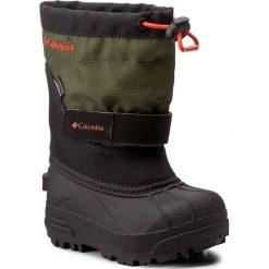 Buty zimowe chłopięce: Śniegowce COLUMBIA – Childrens Powderbug Plus II BC1326 Black/Spicy 011