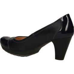 CZÓŁENKA MM OLEKSY 120. Czarne buty ślubne damskie Casu, na koturnie. Za 219,99 zł.