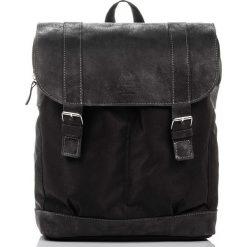Czarny Skórzany plecak PAOLO PERUZZI. Czarne plecaki męskie marki Paolo Peruzzi, ze skóry. Za 219,00 zł.