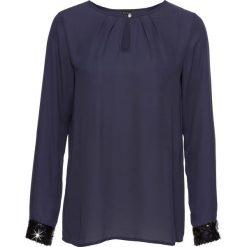 Bluzka bonprix ciemnoniebieski. Niebieskie bluzki asymetryczne bonprix, eleganckie. Za 74,99 zł.