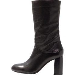 Unisa OLIAS Kozaki black. Czarne buty zimowe damskie marki Unisa, z materiału. Za 669,00 zł.