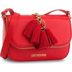 Torebka LOVE MOSCHINO - JC4146PP16LZ0500  Rosso. Czerwone listonoszki damskie Love Moschino, ze skóry. W wyprzedaży za 669,00 zł.