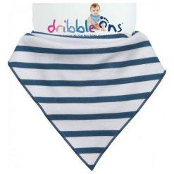 Xkko Śliniaczek Dribble Ons Nautical Stripes. Szare śliniaki Xkko, z bawełny. Za 32,00 zł.