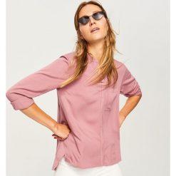 Koszula - Różowy. Białe koszule damskie marki Reserved, l, z dzianiny. Za 79,99 zł.