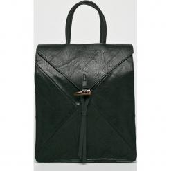 Answear - Plecak. Czarne plecaki damskie ANSWEAR, z materiału. Za 149,90 zł.
