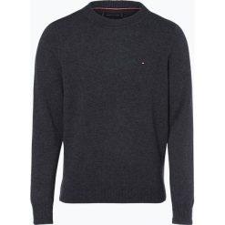 Tommy Hilfiger - Sweter męski – Heather, szary. Czarne swetry klasyczne męskie marki TOMMY HILFIGER, l, z dzianiny. Za 449,95 zł.