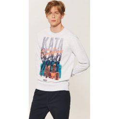 Bluza z nadrukiem - Jasny szar. Szare bluzy męskie rozpinane marki House, l, z nadrukiem. Za 59,99 zł.
