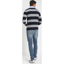 GANT STRIPED HEAVY RUGGER Koszulka polo grey melange. Szare koszulki polo GANT, m, z bawełny, z długim rękawem. Za 419,00 zł.