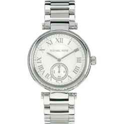 """Zegarek kwarcowy """"Skylar"""" w kolorze srebrnym. Szare, analogowe zegarki damskie marki Michael Kors, srebrne. W wyprzedaży za 560,95 zł."""
