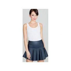 Spódnica K239 Granat. Niebieskie spódniczki Lenitif, uniwersalny, mini, rozkloszowane. Za 89,00 zł.