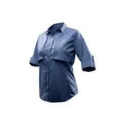 Koszula turystyczna długi rękaw TRAVEL 500 MODUL damska. Czerwone koszule damskie marki DOMYOS, z elastanu. Za 99,99 zł.