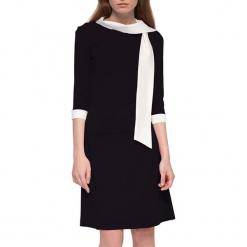 Sukienka w kolorze czarnym. Czarne sukienki marki YULIYA BABICH, xs, ze stójką, midi. W wyprzedaży za 149,95 zł.