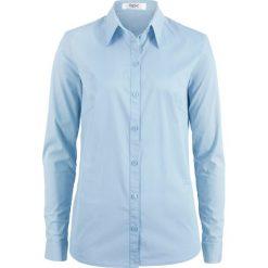 Bluzki asymetryczne: Bluzka z długim rękawem bonprix pudrowy niebieski