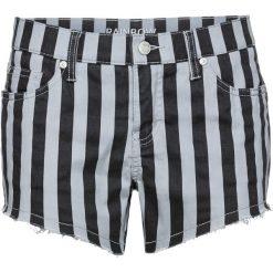 Szorty dżinsowe bonprix czarno-jasnoszary w paski. Czarne bermudy damskie bonprix, w paski, z jeansu. Za 37,99 zł.
