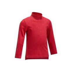 Koszulka Gym x2. Szare t-shirty dziewczęce marki DOMYOS, z elastanu, z kapturem. Za 34,99 zł.