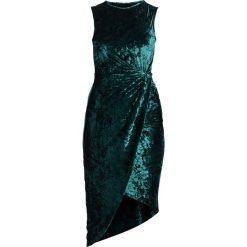 Sukienki hiszpanki: WAL G. CRUSHED SIDE KNOT DRESS Sukienka etui green