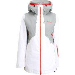 Bomberki damskie: Marmot WOMEN POWDERLINE  Kurtka narciarska white/grey storm