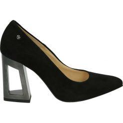 Czółenka - 3900-4081 N-N. Czarne buty ślubne damskie Venezia, ze skóry. Za 299,00 zł.