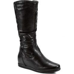 Kozaki TAMARIS - 1-25397-23 Black Leather 003. Szare buty zimowe damskie marki Tamaris, z materiału. W wyprzedaży za 219,00 zł.