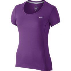 Koszulka do biegania damska NIKE DRI-FIT CONTOUR SHORT SLEEVE / 644694-556 - NIKE DRI-FIT CONTOUR SHORT SLEEE. Topy sportowe damskie Nike, z materiału. Za 105,00 zł.