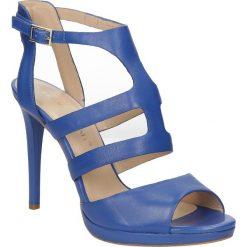 SANDAŁY BRUNO PREMI F3301P. Niebieskie sandały damskie marki Bruno Premi, z materiału. Za 249,99 zł.