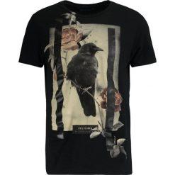 T-shirty męskie z nadrukiem: Religion LONE CROW TEE Tshirt z nadrukiem black