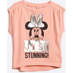 Name it - Top dziecięcy 110-164 cm. Różowe bluzki dziewczęce Name it, z nadrukiem, z bawełny, z okrągłym kołnierzem. W wyprzedaży za 49,90 zł.