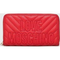 Love Moschino - Portfel. Czerwone portfele damskie marki Love Moschino, z materiału. Za 439,90 zł.