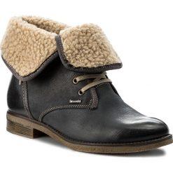 Botki LASOCKI - WI23-DALIA-05 Granatowy. Niebieskie buty zimowe damskie Lasocki, z nubiku, na obcasie. Za 199,99 zł.