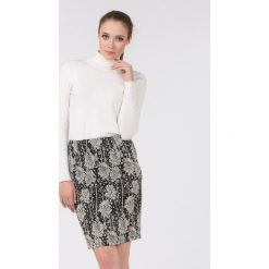 Spódniczki: Wzorzysta spódnica black&white