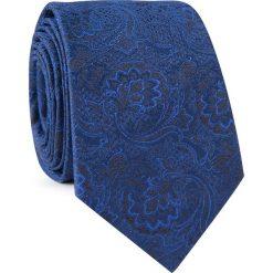 Krawat jedwabny  KWGR000317. Niebieskie krawaty męskie Giacomo Conti, z jedwabiu. Za 129,00 zł.