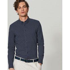 Koszula we wzory super slim fit - Granatowy. Niebieskie koszule męskie slim marki Reserved. Za 99,99 zł.