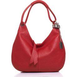Torebki klasyczne damskie: Skórzana torebka w kolorze czerwonym – 38 x 34 x 10 cm